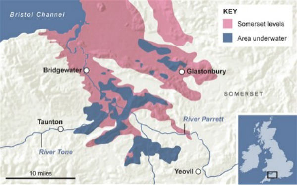 Figure 2: Extent of the flooded area