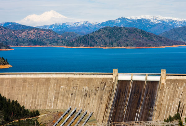 The dam is used for water storage hydropower and flood control. Like many dams across the state its water levels have been lower ... & Shasta dam on the Sacramento River in California US. The dam is ...